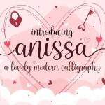 Anissa Lovely Modern Calligraphy Script Font