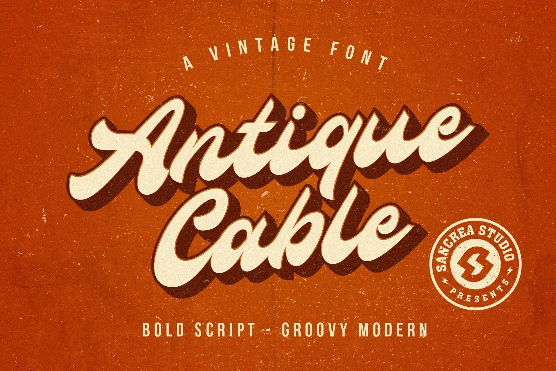 Antique Cable Bold Script Font-1 (1)