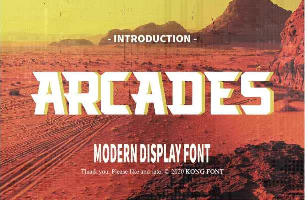 Arcades Modern Display Font