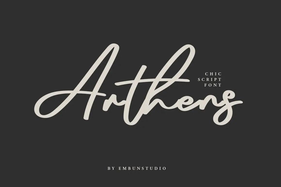 Arthens Bold Signature Script Font-1