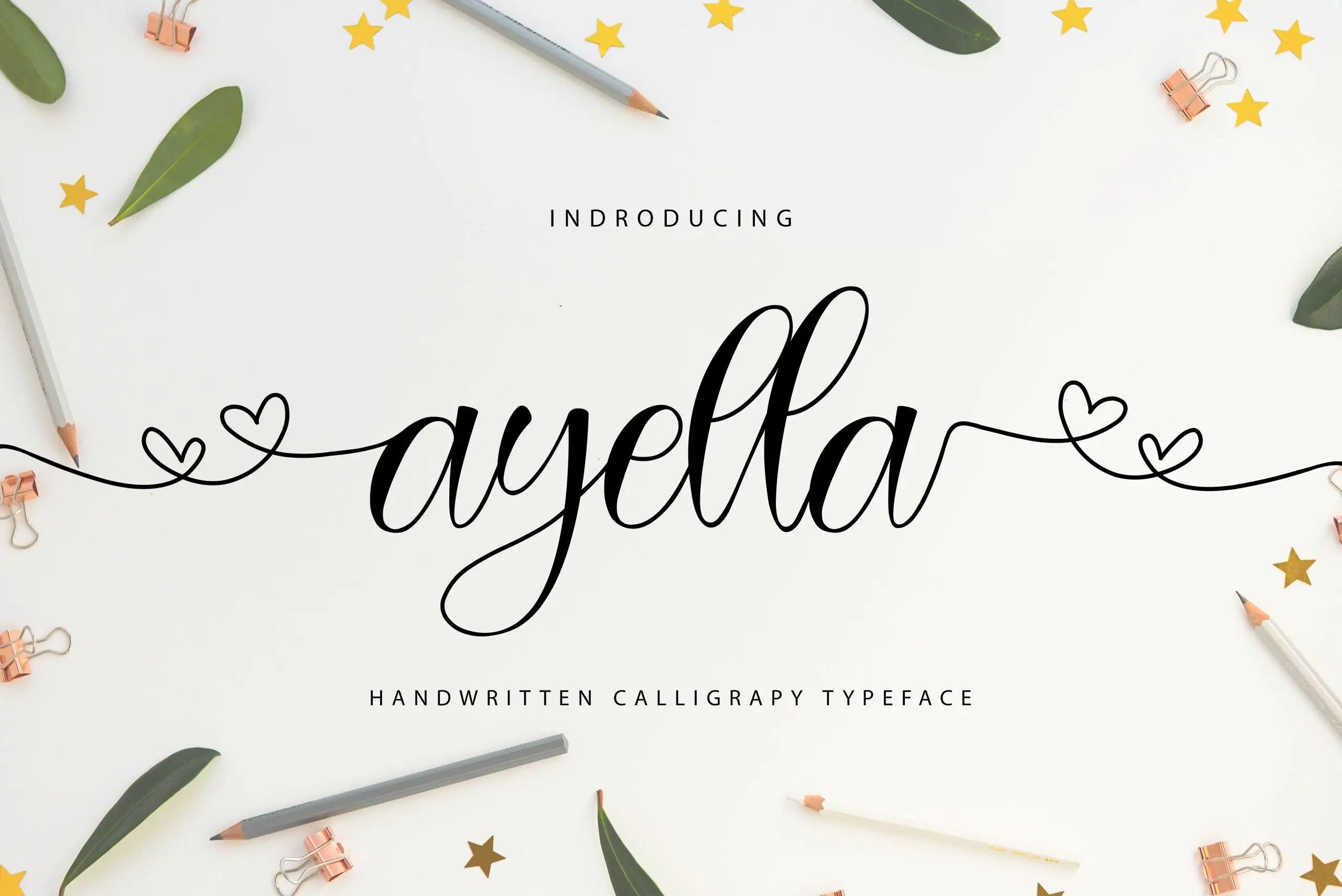Ayella Handwritten Script Font-1