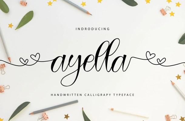 Ayella Handwritten Script Font