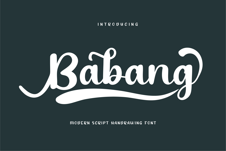 Babang Calligraphy Script Font-1