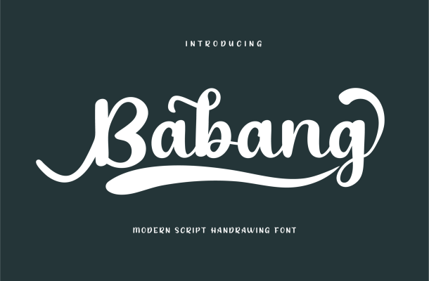 Babang Calligraphy Script Font