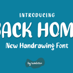 Back Home Display Font