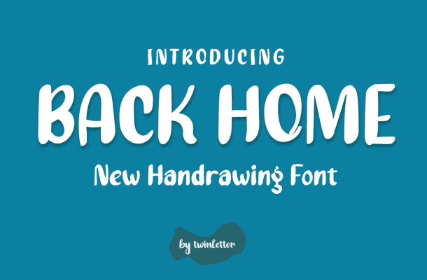 Back Home Display Font