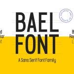 Bael Sans Seri Font Family Free