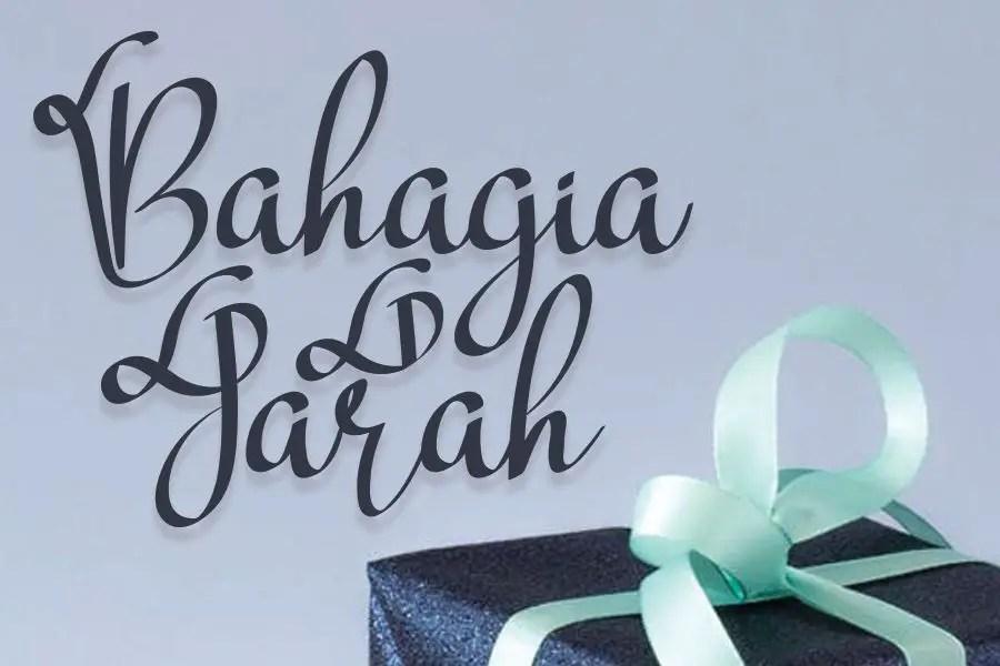 Bahagia Jarah Display Font-1