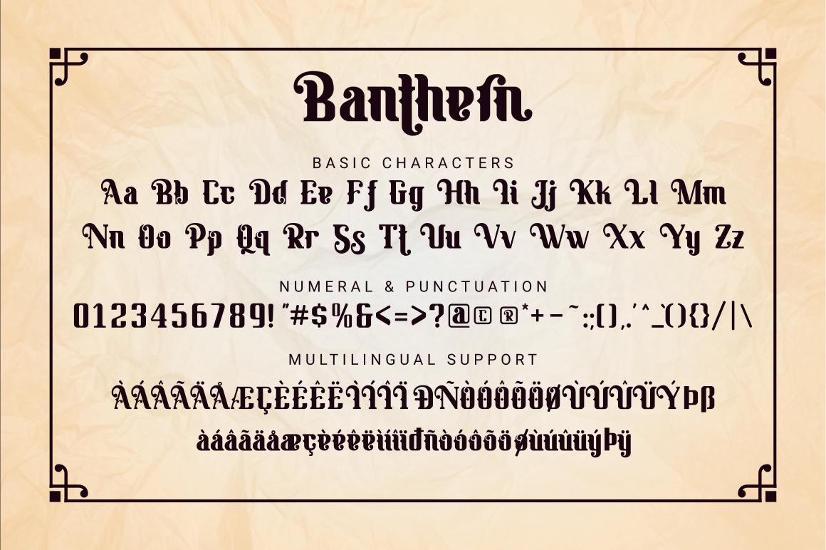 Banthern Display Font-3