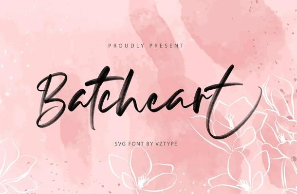 Batcheart Brush Script Font