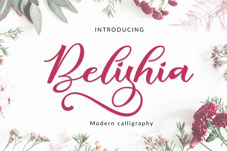 Belishia Calligraphy Script Font-1