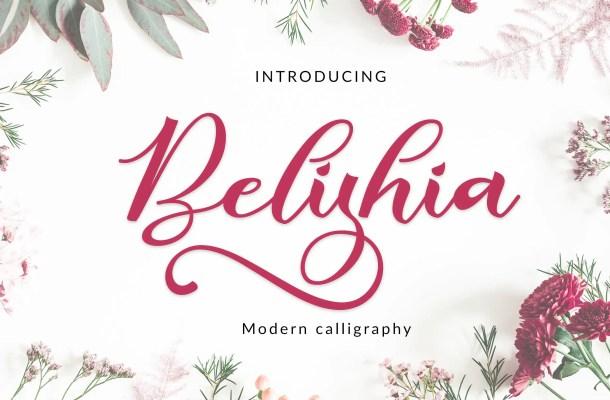 Belishia Calligraphy Script Font