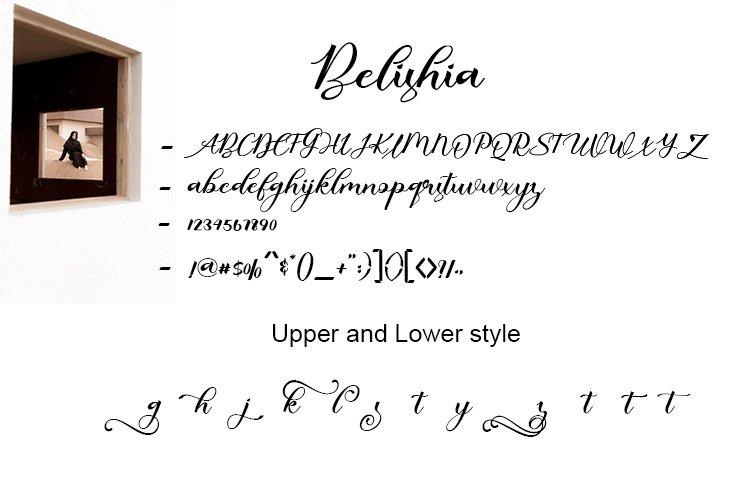Belishia Calligraphy Script Font-3