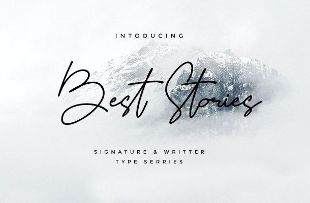Best Stories Handwritten Script Font