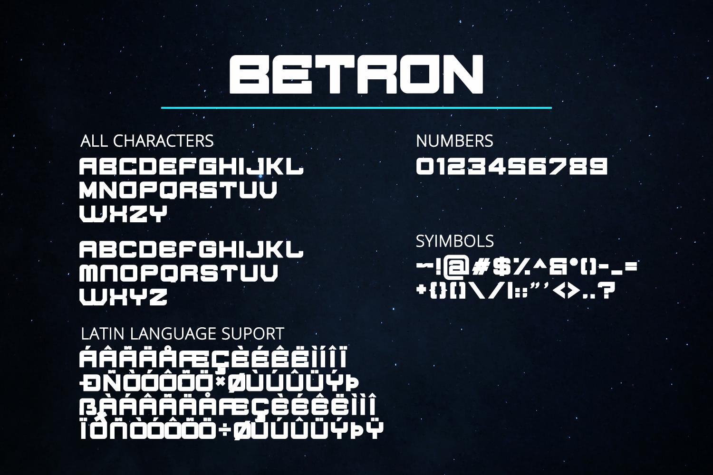 Betron Display Font-3