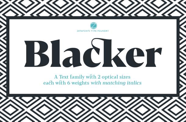 Blacker Serif Font Family