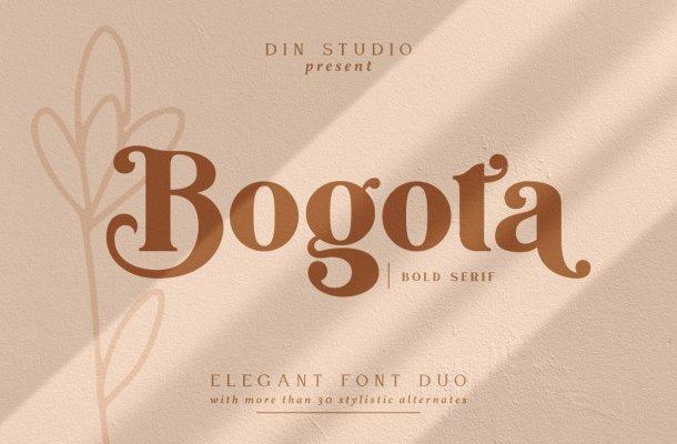 Bogota Elegant Bold Serif Font