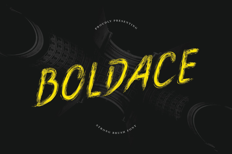 Boldace Strong Brush Font-1