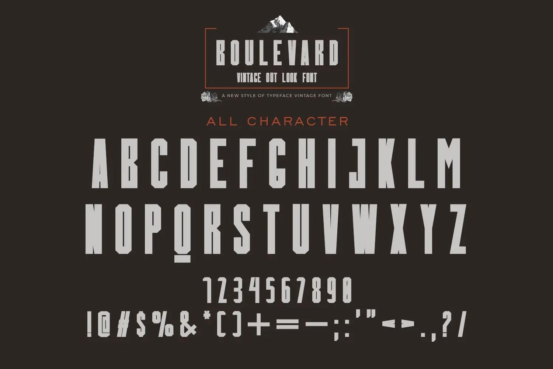 Boulevard Display Font-3