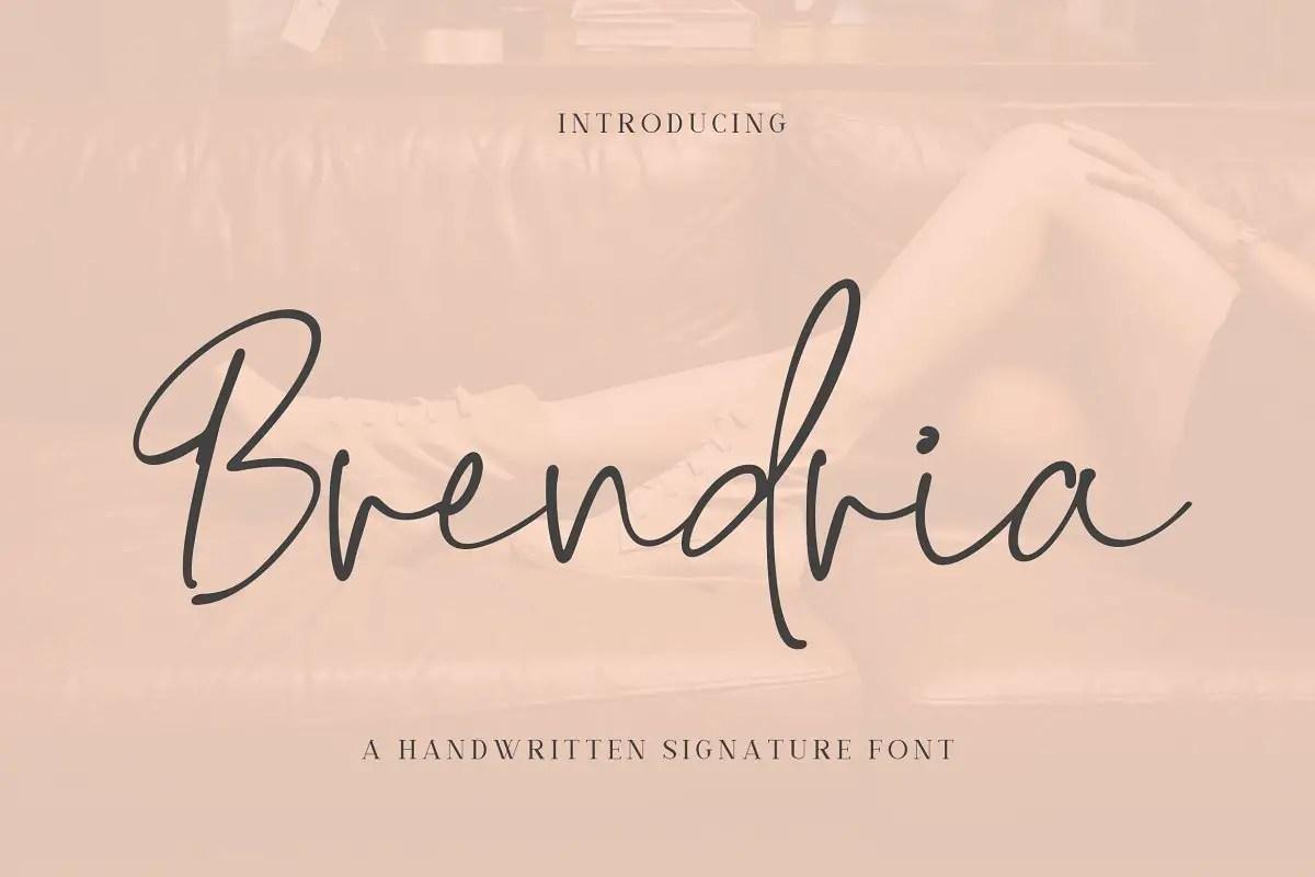 Brendria Handwritten Signature Font-1