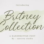 Britney Collection Handwritten Font