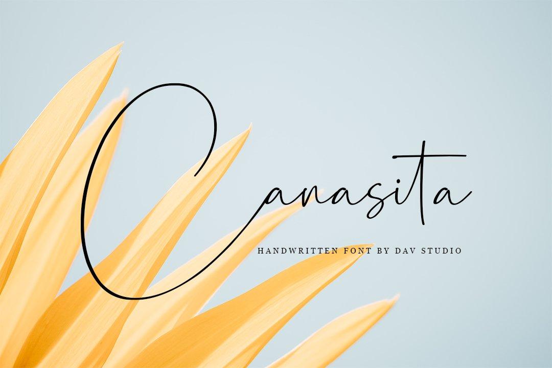 Canasita Handwritten Script Font-1