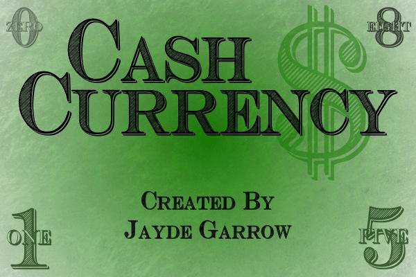 Cash Currency Fancy Font