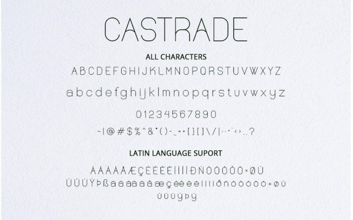 Castrade Sans Serif Typeface-3