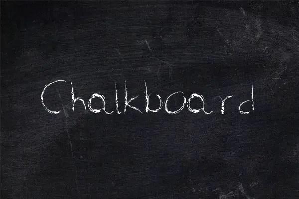 Chalkboard Handwritten Font