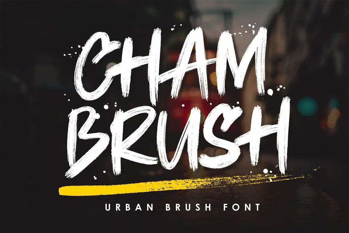 Chambrush Urban Brush Script Font-1