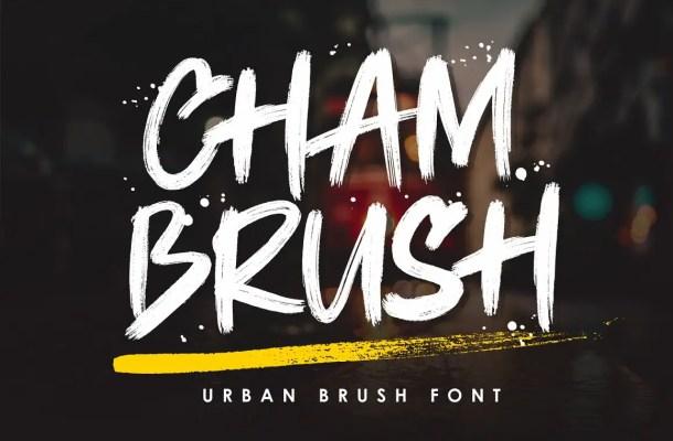 Chambrush Urban Brush Script Font