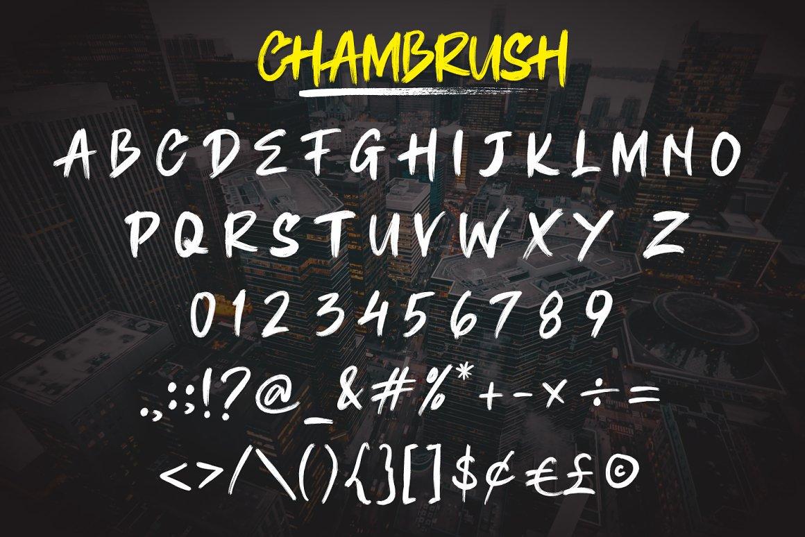 Chambrush Urban Brush Script Font-3