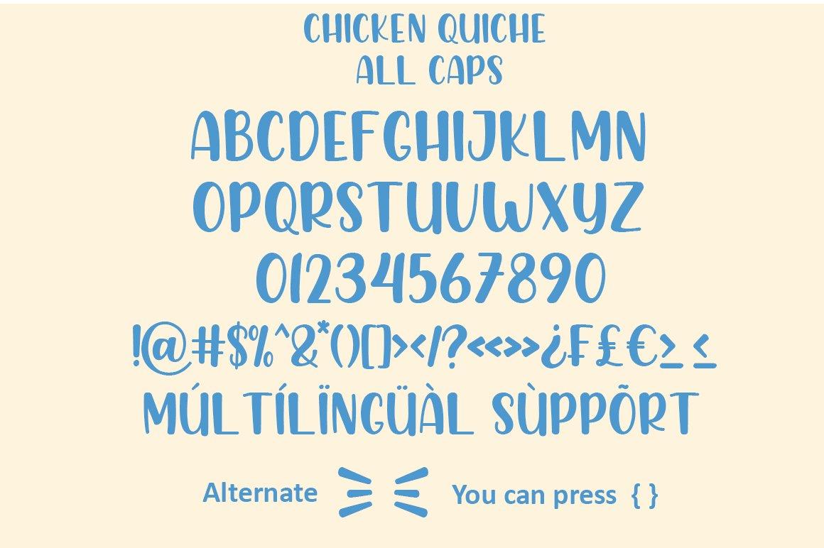 Chicken Quiche Handwritten Script Font-3