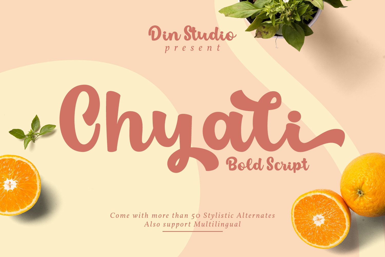 Chyali Bold Script Font-1
