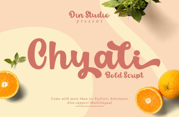 Chyali Bold Script Font