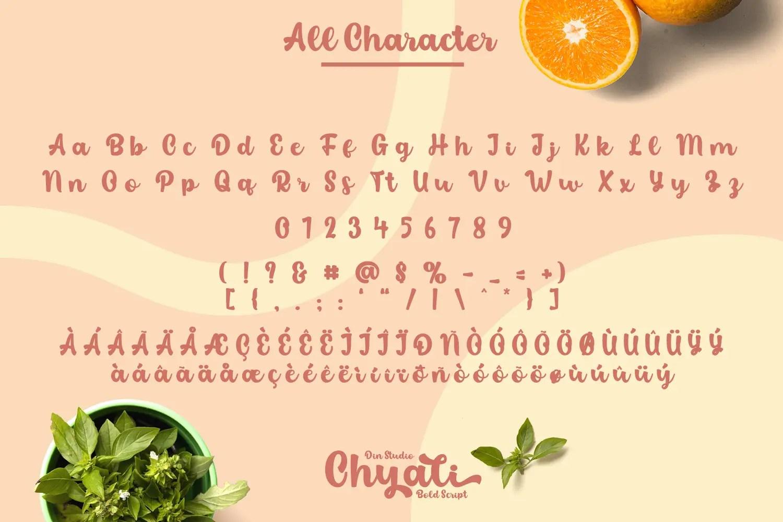 Chyali Bold Script Font-3