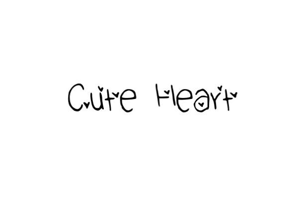 Cute Heart Font