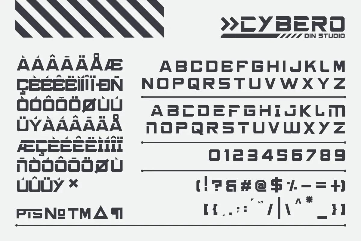 Cybero Display Typeface-3
