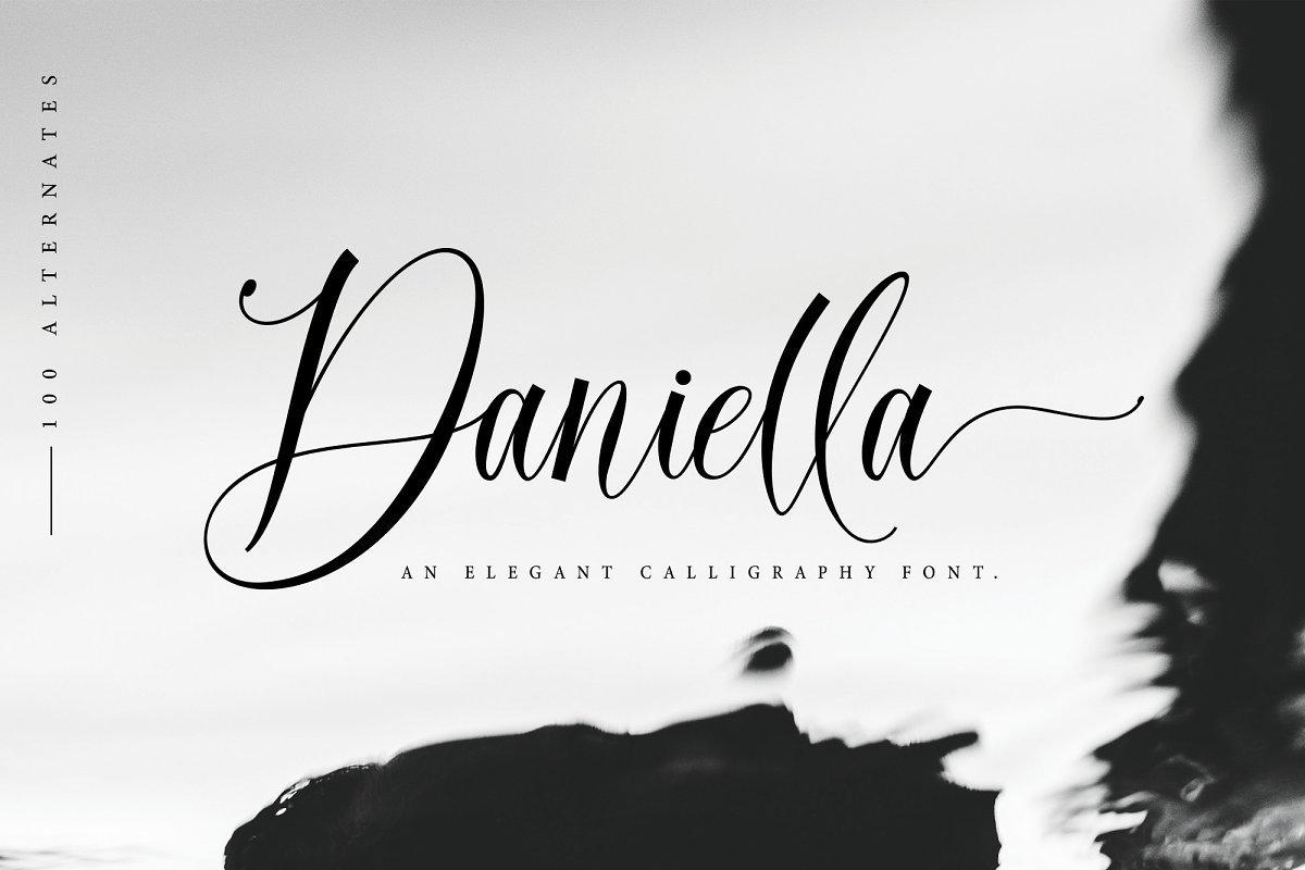 Daniella Script Calligraphy Font-1