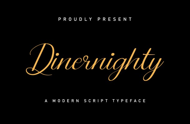 Dinernighty Calligraphy Font
