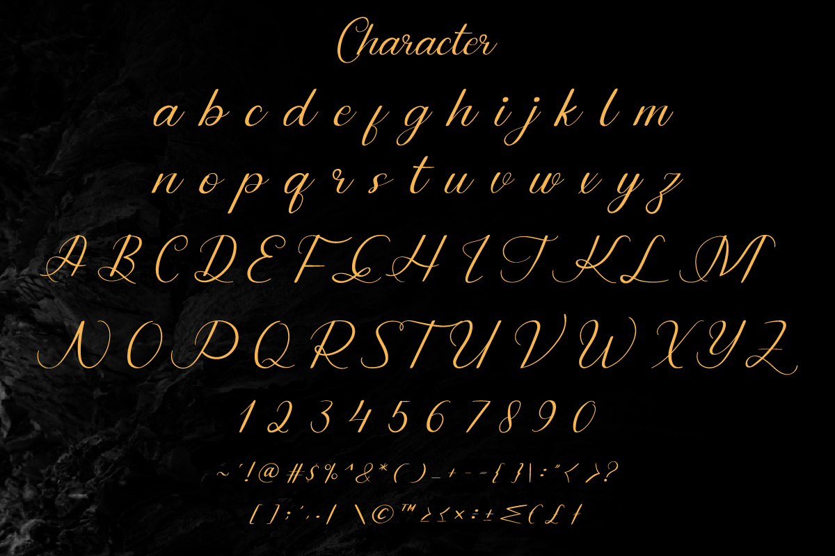 Dinernighty Calligraphy Font-3