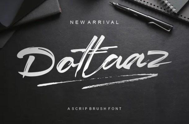 Dottaaz Brush Scrip Font