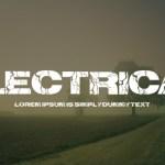 Electrical Fancy Font