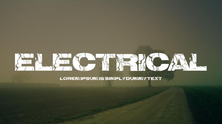 Electrical Fancy Font-1