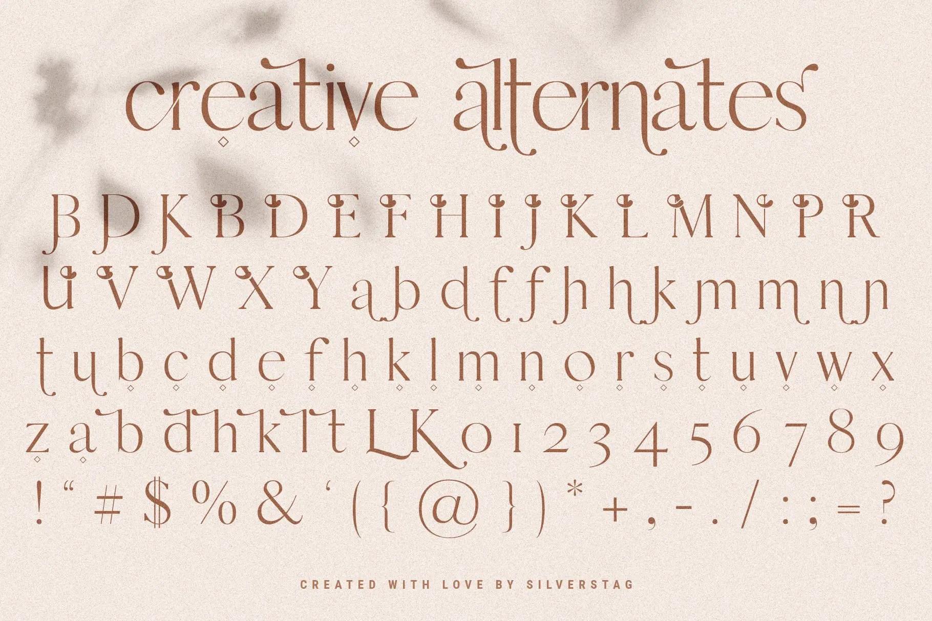 Esther Stylish Ligature Serif Font-3