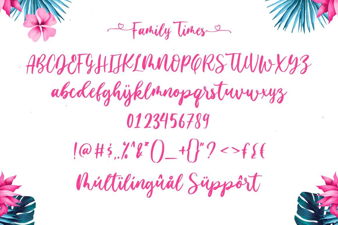 Family Times Lovely Handwritten Font-3