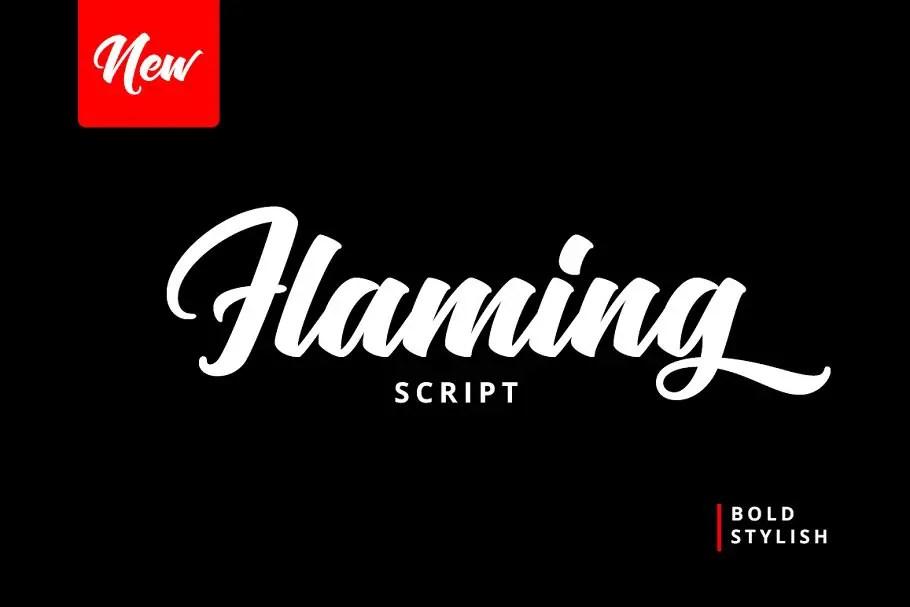 Flaming Script Brush Font-1