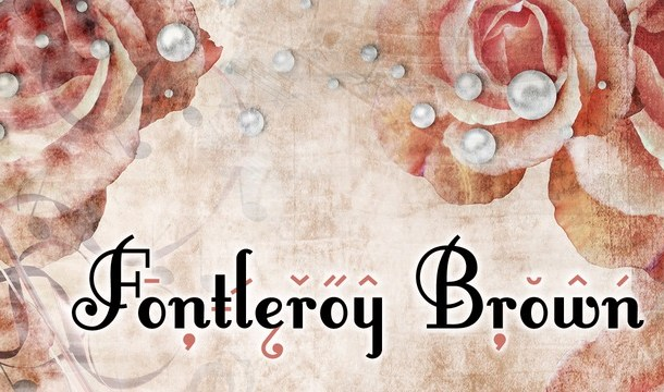 Fontleroy Brown Fancy Font