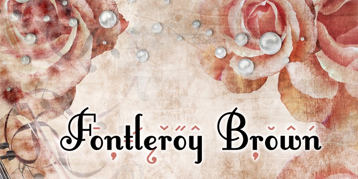 Fontleroy Brown Fancy Font-1