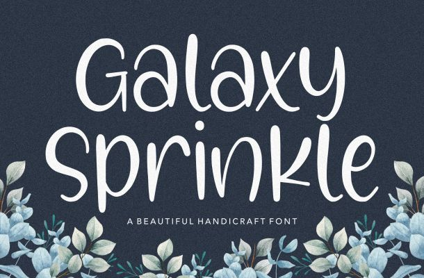 Galaxy Sprinkle Beautiful Handcraft Script Font